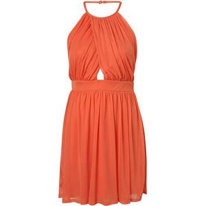 Wrap Neck Chiffon Dress