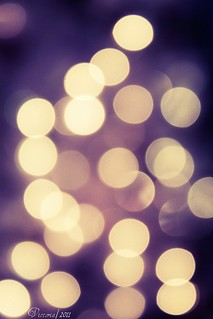 Purple and Yellow Bokeh♥