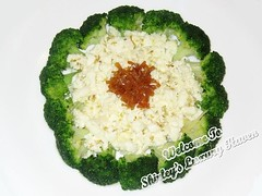 Egg-White Broccoli with Osmanthus (西兰花炒桂…