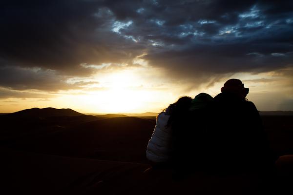 Maroc 2011 - Coucher de soleil sur les dunes