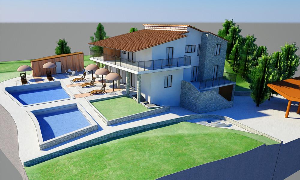 Rocco's villa, Italy   NPR Render