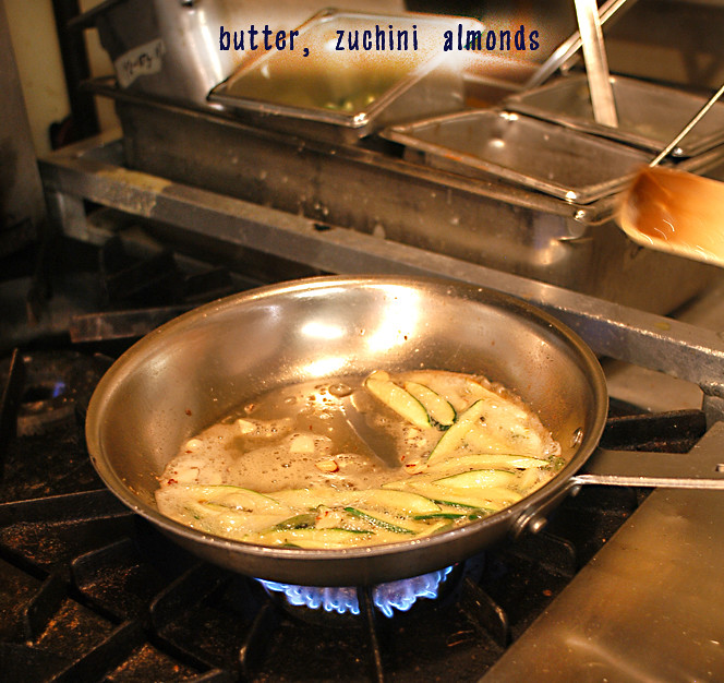 butter zuchini almonds