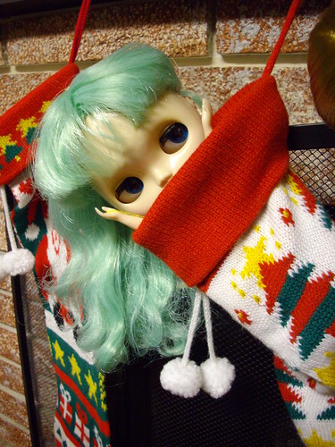 Harmony Melodee Petunia is in her stocking.