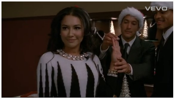 [Video] Santa Baby by Santana (Naya Rivera) Never Aired on Glee