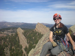 Clare Enjoying Third Flatiron Summit