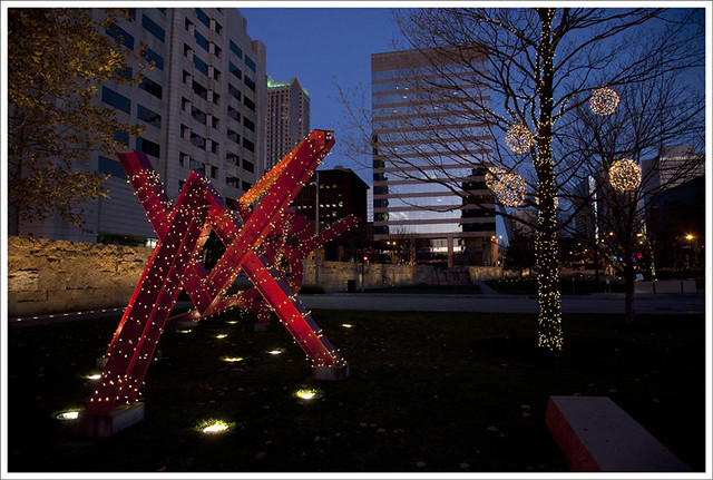 Citygarden Christmas Eve 1