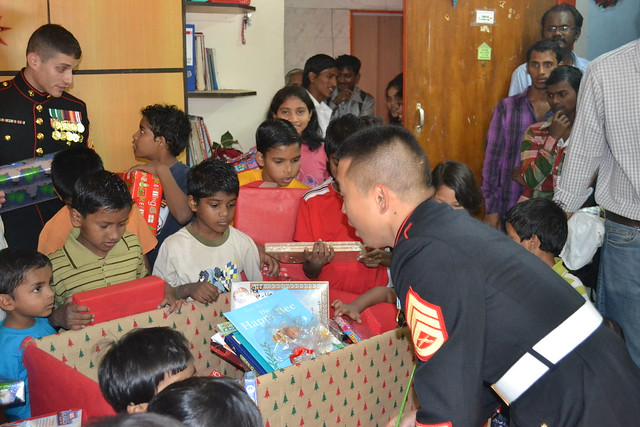 Toys for Tots: MSG Detachment U.S. Consulate General Mumbai 2011, at Tender Hands