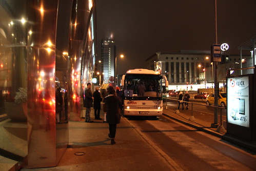 Taking a bus to Port of Tallinn