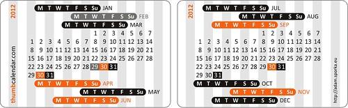 Thumb Calendar 2012