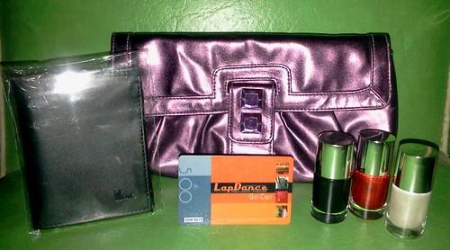 memo wallet lapdance purse polishes set
