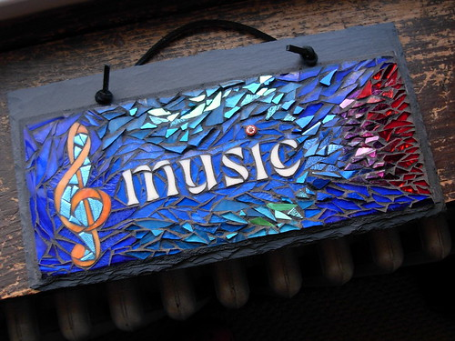 Hearing Music in Color. Mosaic by Nutmeg Designs.