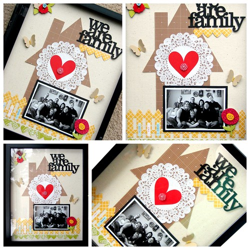 We are Family Shadow Box