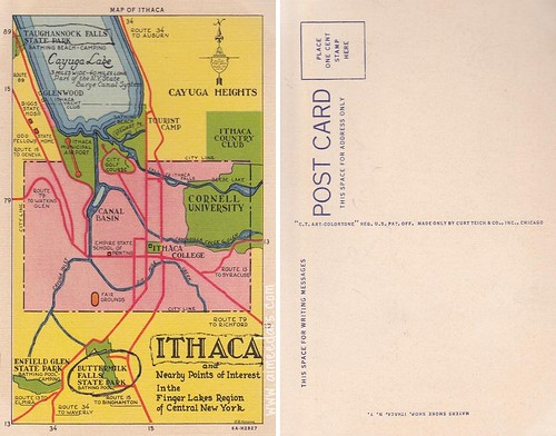 Ithaca Map - 1936