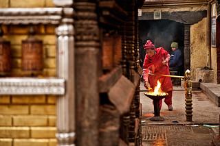 Woman at Swayambunath, Kathmandu