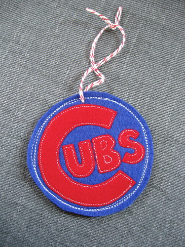 Cubs ornament for the hubs