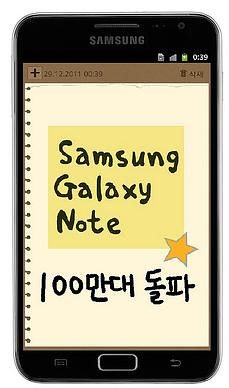 Samsung ships 1 million unit of Galaxy Note