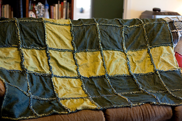 Swedish Flag Rag Quilt