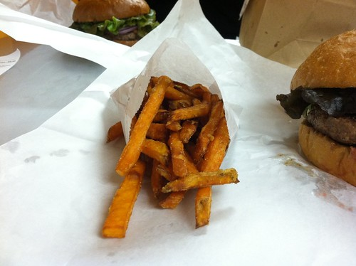 Yummy sweet potato fries @ Hole in the Wall Burger Joint