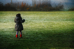 Girl in Red Boots