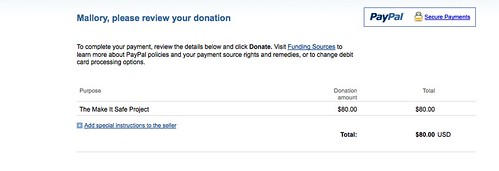 MakeItSafeProject Donation