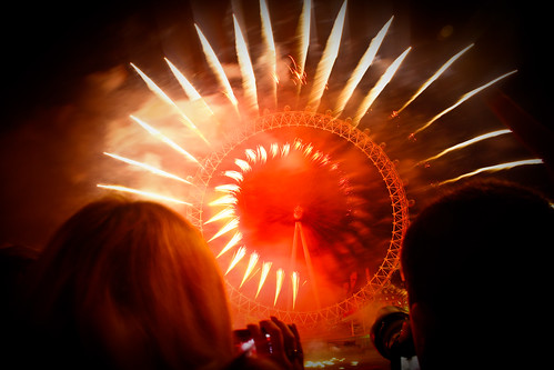 London Eye Fireworks - New Year's Eve