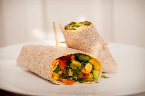 chickpea veggie wrap