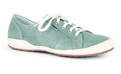 textile(0.0), aqua(0.0), leather(0.0), cross training shoe(1.0), walking shoe(1.0), tennis shoe(1.0), outdoor shoe(1.0), brown(1.0), sneakers(1.0), footwear(1.0), shoe(1.0), turquoise(1.0), teal(1.0), green(1.0), athletic shoe(1.0), suede(1.0),