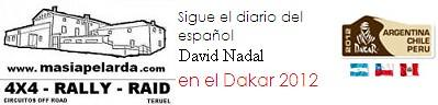 Sigue el diario del español David Nadal en el Dakar 2012