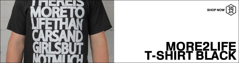 klutch republik more 2 life shirt black automotive clothing