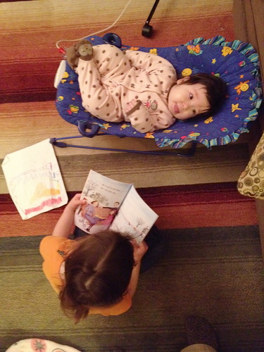 Reading to Ellie