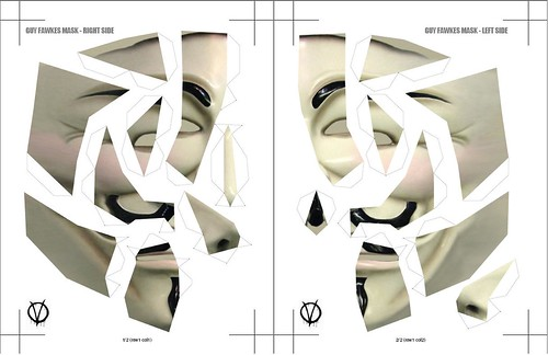 Mascara V de Vendetta para imprimir