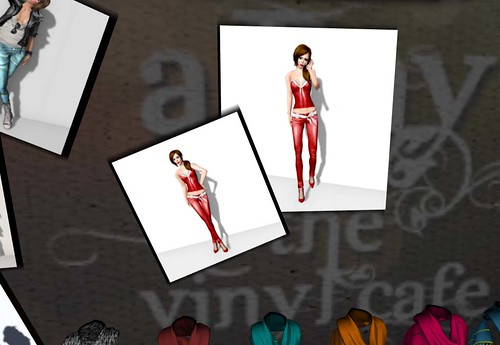 The Dominion (The Vinyl Cafe) - Red Tank & Jean Set, 1 linden by Cherokeeh Asteria