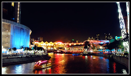 Clarke Quay Singapore: Night View