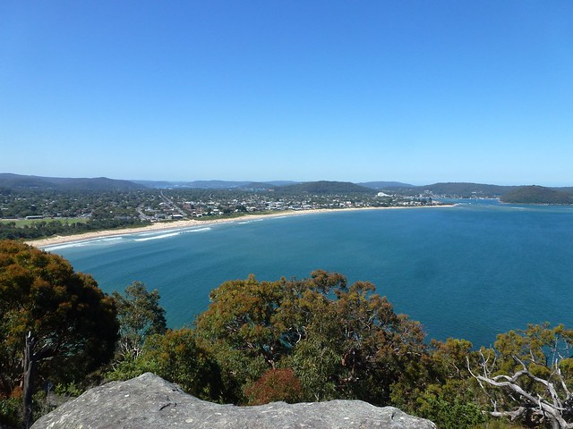 The view of Umina Beach from Mt Ettalong