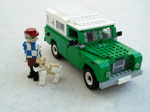 Farmer Jim, his pooch and his Landy.
