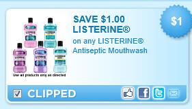 Listerine Antiseptic Mouthwash Coupon