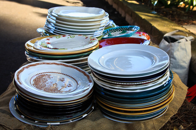 the dinner plates