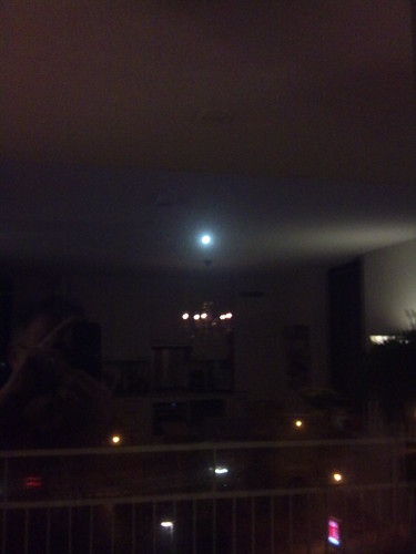 Moon, chandelier and me by XPeria2Day