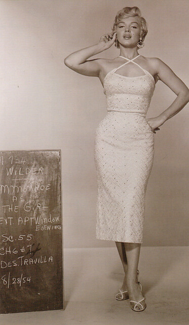 "Costume Test of Marilyn in ""The Seven Year Itch"""