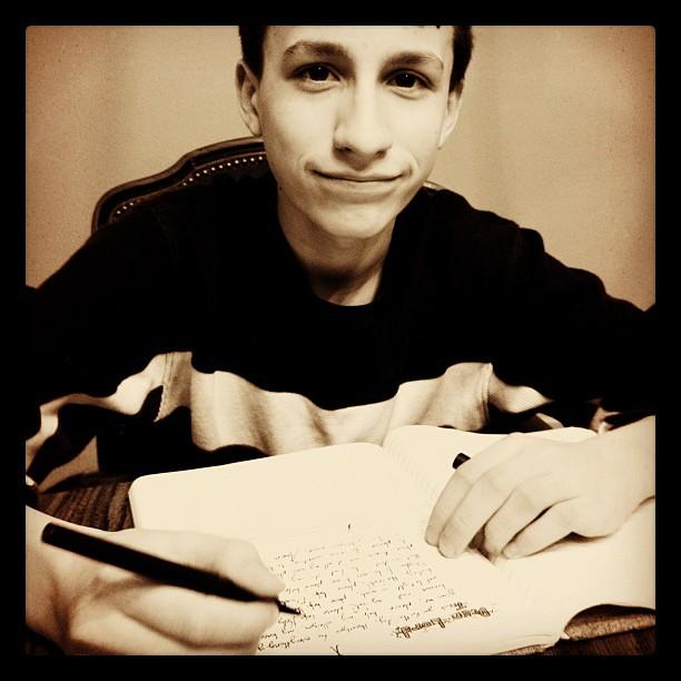 Good kid. I love him. #teen #homeschool