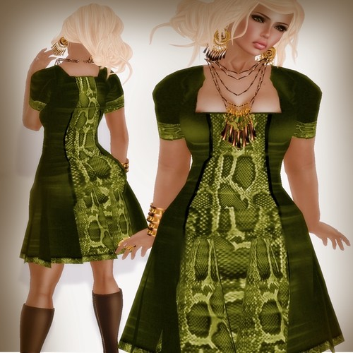 A&A Fashion Eve Dres green