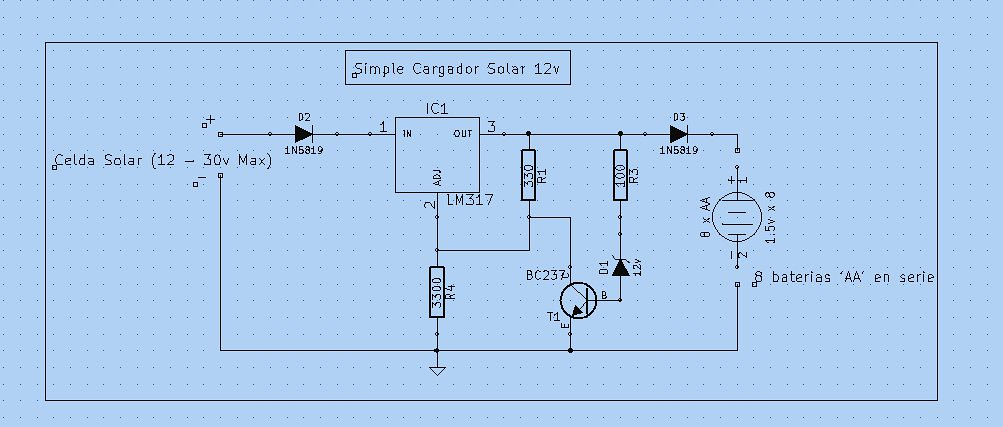 Circuito Regulador De Voltaje : Cargador solar para etrac