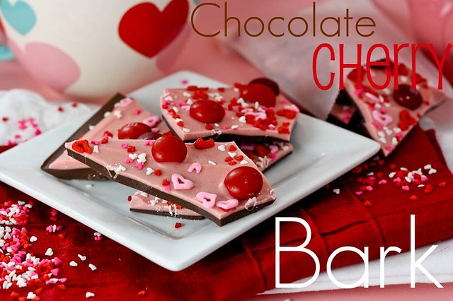Chocolate Cherry Valentines Day Bark - Confessions of a Cookbook Queen