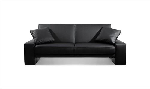 modern black Leather Sofa loveseat