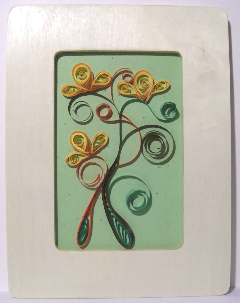 Paper Quilling - Yellow Flowers