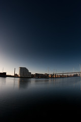 Arty shot of the docklands