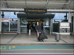 Auckland International Airport, I'm ready to leave :(