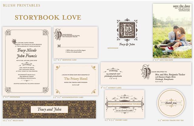 vintage-story-book-classical-wedding-invitation-ensemble