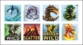 free Dragon Island slot game symbols