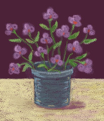 Pink Flowers (Digital Pastel Day 2) by randubnick